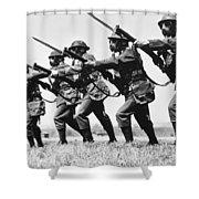 World War II: Training Shower Curtain