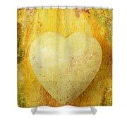 Worn Heart Shower Curtain