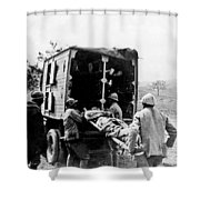 Wounded At The Battle Of Somme - Wwi -- France Shower Curtain