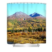 Wrangell Mountains Colors Shower Curtain