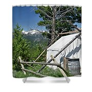 Wrangler Tent With A View Shower Curtain