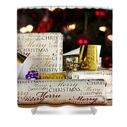 Wrapped Gifts With Tags Shower Curtain
