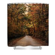 Wrapped In Autumn Shower Curtain by Jai Johnson