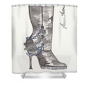 Wrath Boot Shower Curtain