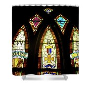 Wrc Stained Glass Window Shower Curtain