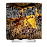 Wreck On The Information Highway Shower Curtain