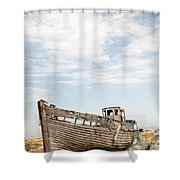 Wrecked Boat Shower Curtain