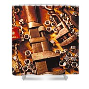 Wrench Tools And Nuts Shower Curtain