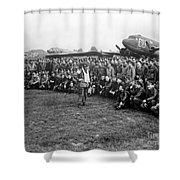 Wwii Artillery Commander Gives Pilots Shower Curtain