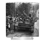 Wwii Liberation Of France Shower Curtain