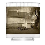 Wye Mill - Sepia Shower Curtain
