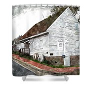 Wye Mill - Water Color Effect Shower Curtain by Brian Wallace