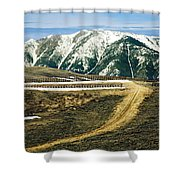 Wyoming Road Shower Curtain