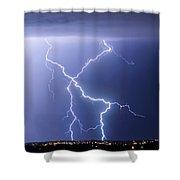 X Lightning Bolt In The Sky Shower Curtain