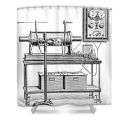 X-ray Equipment With Operating Batteries Shower Curtain