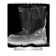 X-ray Of A Childs Light-up Boot Shower Curtain