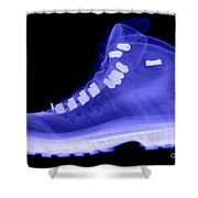 X-ray Of A Hiking Boot Shower Curtain