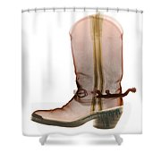 X-ray Of Cowboy Boot Shower Curtain