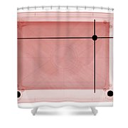 X-ray Of Etch A Sketch Shower Curtain