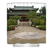 Xi'an Temple Garden Shower Curtain