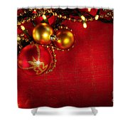 Xmas Frame Shower Curtain