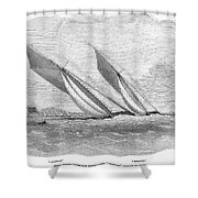 Yacht Race, 1854 Shower Curtain