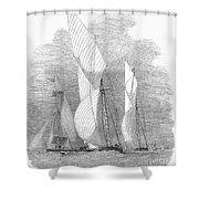Yacht Race, 1855 Shower Curtain