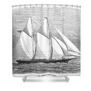 Yacht: Sappho, 1868 Shower Curtain