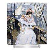Yachting Costume, 1894 Shower Curtain