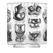 Yachting Trophies, 1871 Shower Curtain