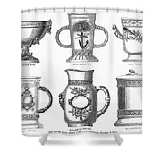 Yachting Trophy, 1880 Shower Curtain