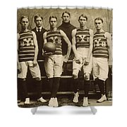Yale Basketball Team, 1901 Shower Curtain by Granger