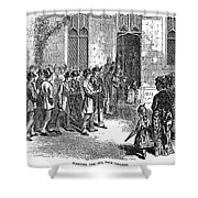 Yale College, 1876 Shower Curtain