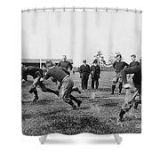 Yale: Football Practice Shower Curtain