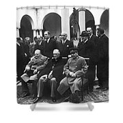 Yalta Conference, 1945 Shower Curtain
