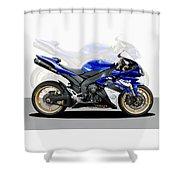 Yamaha R1 Shower Curtain