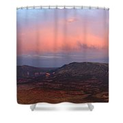 Yampa Bench Sunset Two Shower Curtain