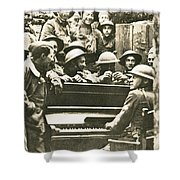 Yankee Soldiers Around A Piano Shower Curtain by Photo Researchers