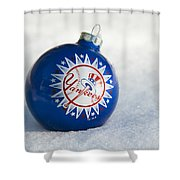 Yankees Ornament Shower Curtain