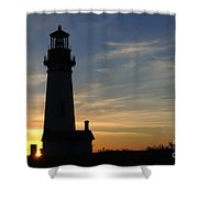 Yaquina Lighthouse Shower Curtain