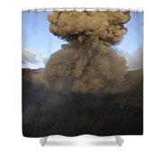 Yasur Eruption, Tanna Island, Vanuatu Shower Curtain