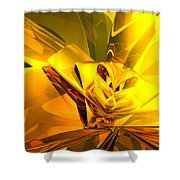 Yellow Abstract Shower Curtain
