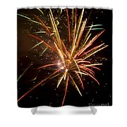 Yellow And Red Fireworks Shower Curtain