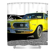 Yellow Barracuda Shower Curtain
