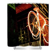 Yellow Bicycle Shower Curtain