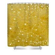 Yellow Bubbles Shower Curtain