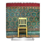Yellow Chair At The Imperial Palace Shower Curtain
