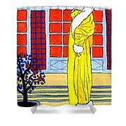 Yellow Coat Shower Curtain