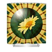 Yellow Daisy Energy Shower Curtain