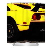 Yellow Ferrari Shower Curtain
